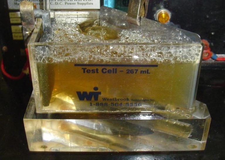 Раствор цинкования в испытательной камере