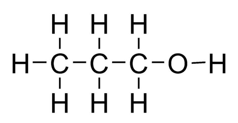 Химическая структура пропанола