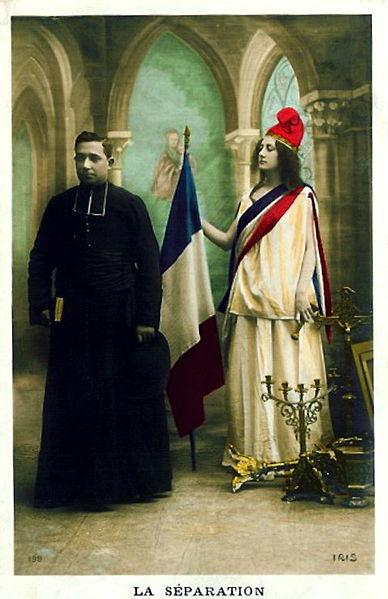 Аллегория французского закона о разделении церкви и государства