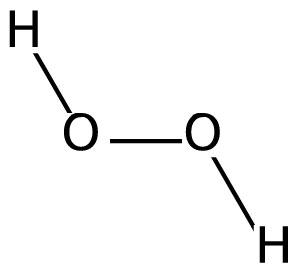 Структура перекиси водорода