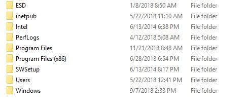 Установка файлов Windows
