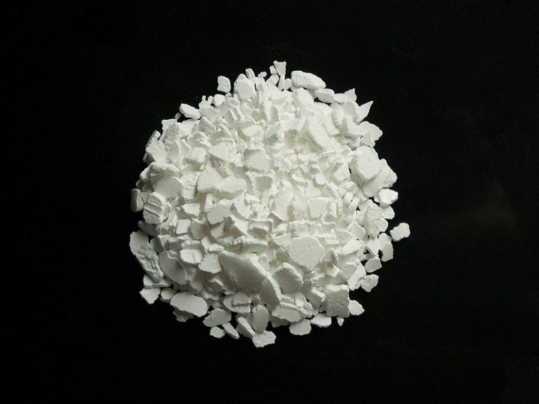 Внешний вид хлорида кальция