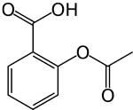Химическая структура ацетилсалициловой кислоты