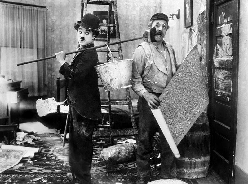 Сцена из фильма Чарли Чаплина