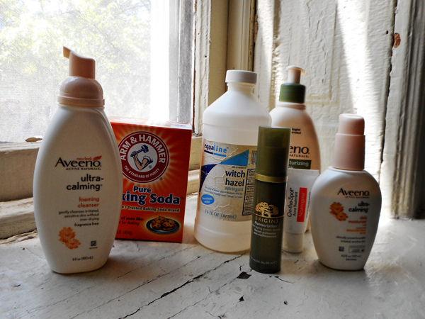 Различные продукты по уходу за кожей