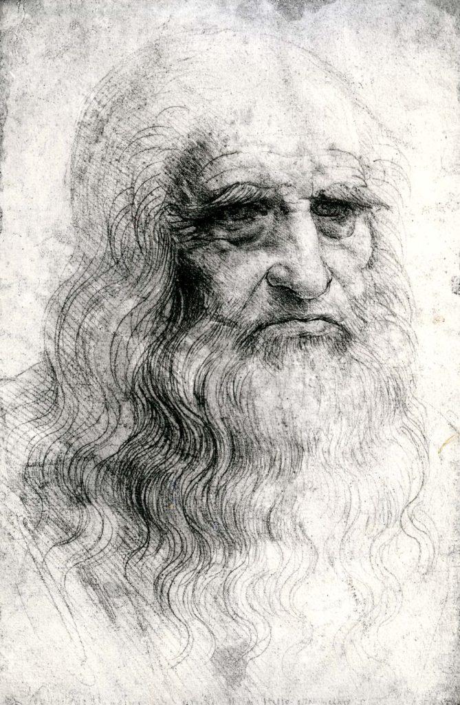 Автопортрет Леонардо да Винчи, рисунок мелом, 1512г.