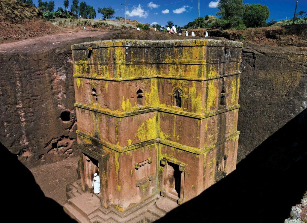 Дом Giorgis церковь, Лалибела, Эфиопия