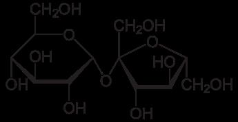 Химическая структура Сахарозы