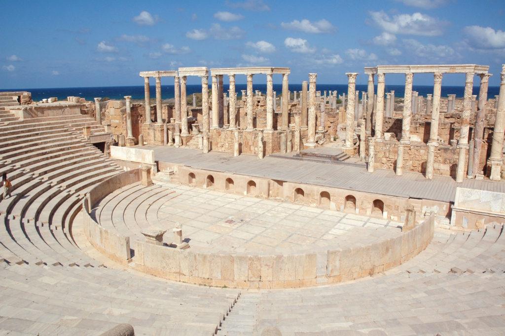 Лептис Магна, Ливия римский амфитеатр