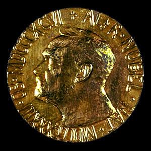 Лицевая сторона медали Нобелевской премии мира