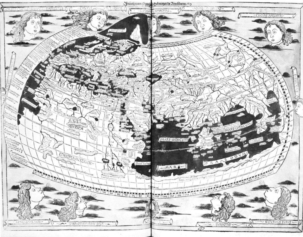Птолемей - карта мира Карта мира