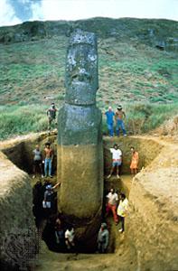 Самая высокая стоящая каменная статуя острова Пасхи