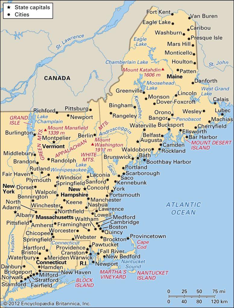 Соединенные Штаты - Новая Англия