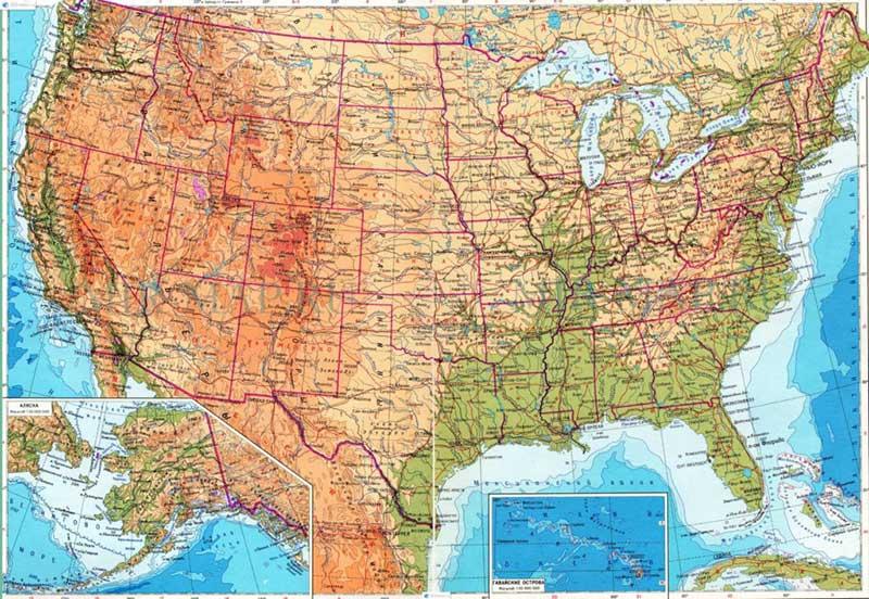 Соединенные Штаты - карта