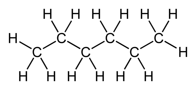 Атомная структура гексана