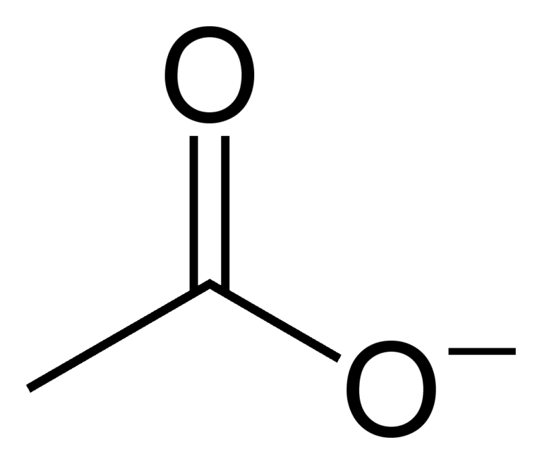 Структура ацетат-иона