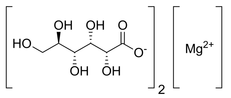 Структурная формула глюконата магния