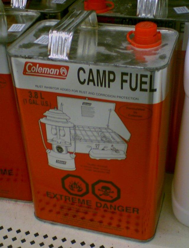 Топливо для лагеря - топливо на основе нафты