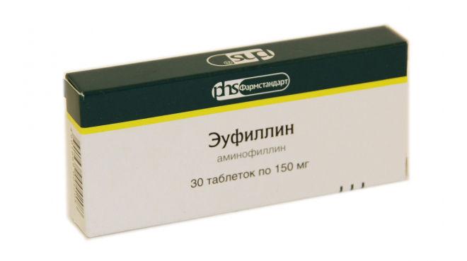 Аминофиллин (Эуфиллин) в таблетках