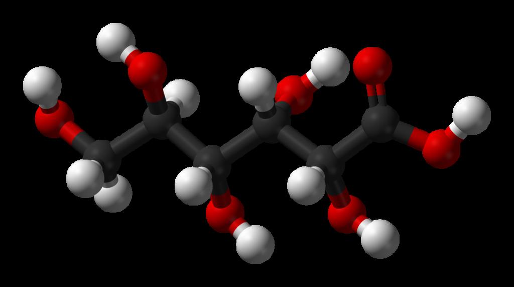 Глюконовая кислота - молекулярная структура