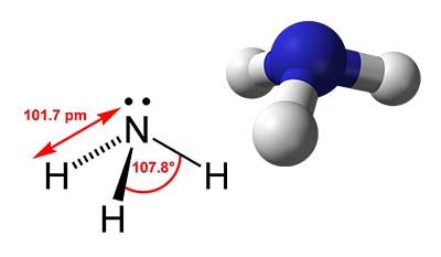 Химическая и молекулярная структура Аммиака