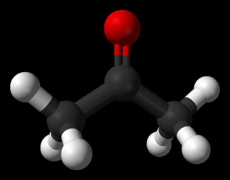 Химическая структура Ацетона (пропанона)