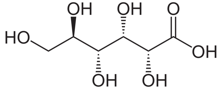 Химическая структура Глюконовой кислоты