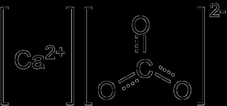 Химическая структура Карбоната кальция