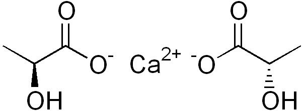 Химическая структура Лактата кальция