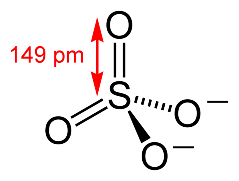 Химическая структура Сульфат-аниона