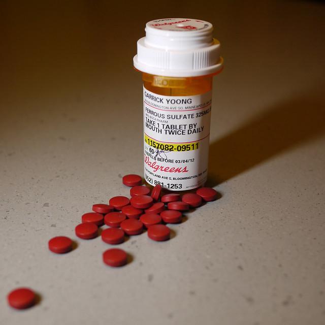 Карбонильное железо в таблетках