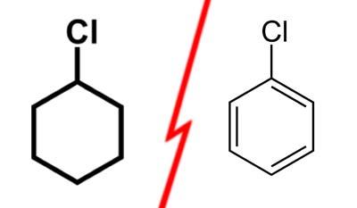 Разница между хлорбензолом и циклогексилхлоридом