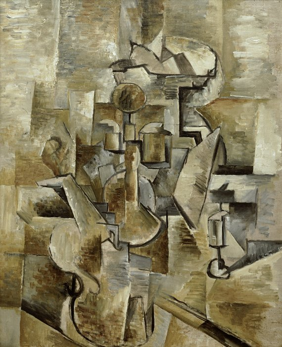 Скрипка и кувшин Жоржа Брака (1910)