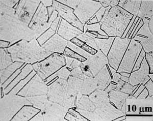 Структура Аустенитной нержавеющей стали