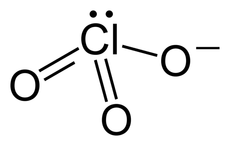 Химическая структура Хлорат-иона