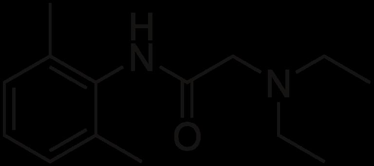 Химическая структура Лидокаина