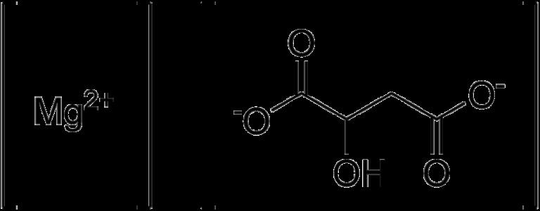 Химическая структура Малата магния