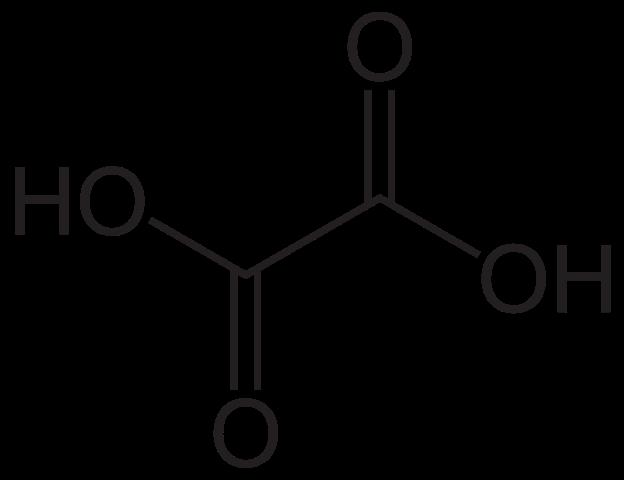 Химическая структура Щавелевой кислоты
