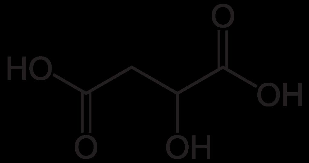 Химическая структура Яблочной кислоты