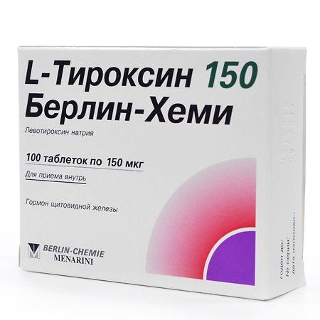 L-Тироксин в таблетках для щитовидной железы