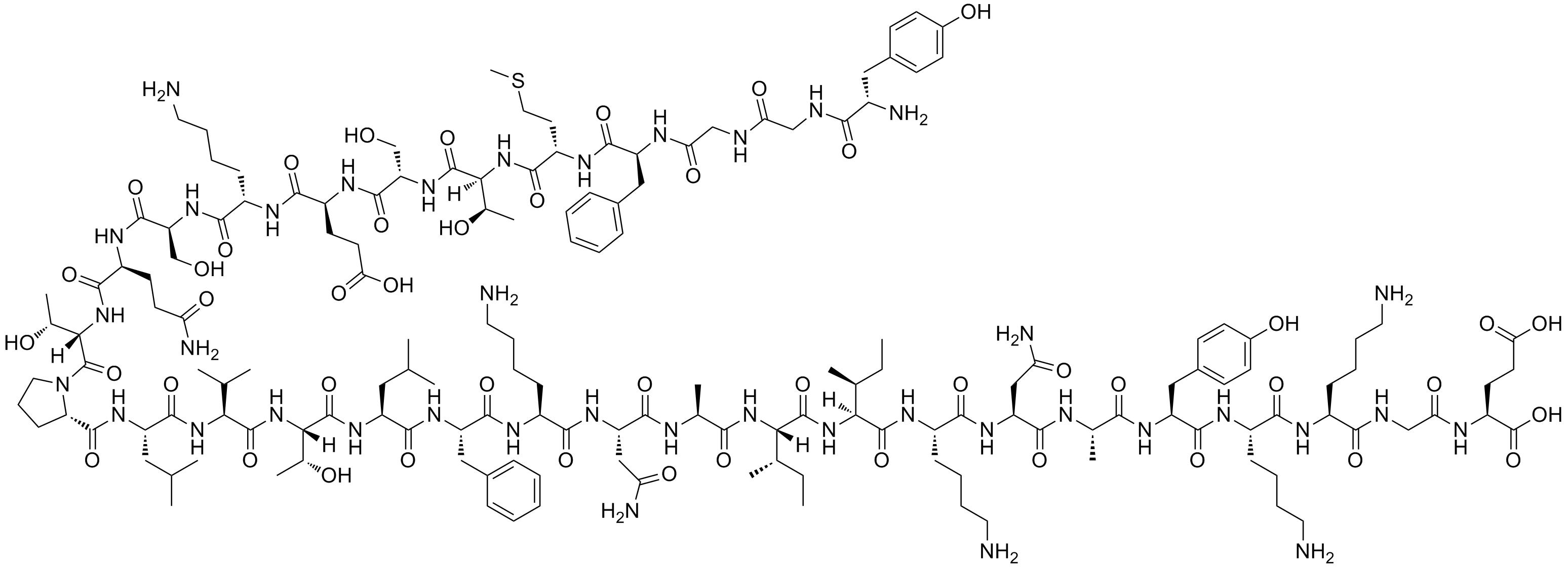 Бета-Эндорфин, химическая структура