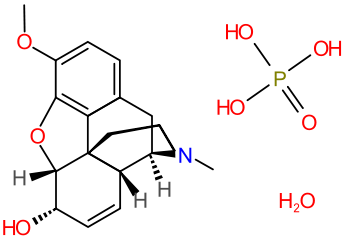 Химическая структура Фосфата Кодеина
