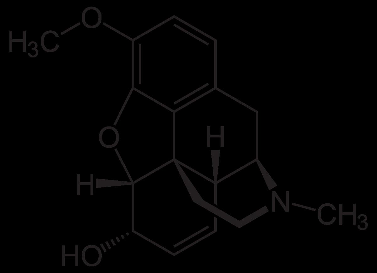 Химическая структура Кодеина