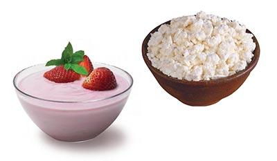 Разница между Йогуртом и Творогом