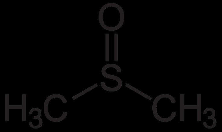 Химическая структура Диметилсульфоксида (ДМСО)