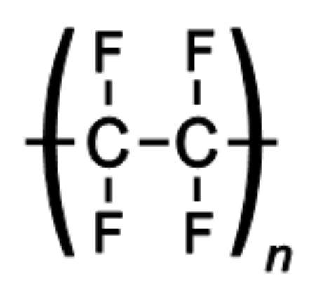 Повторяющийся блок в химической структуре тефлона
