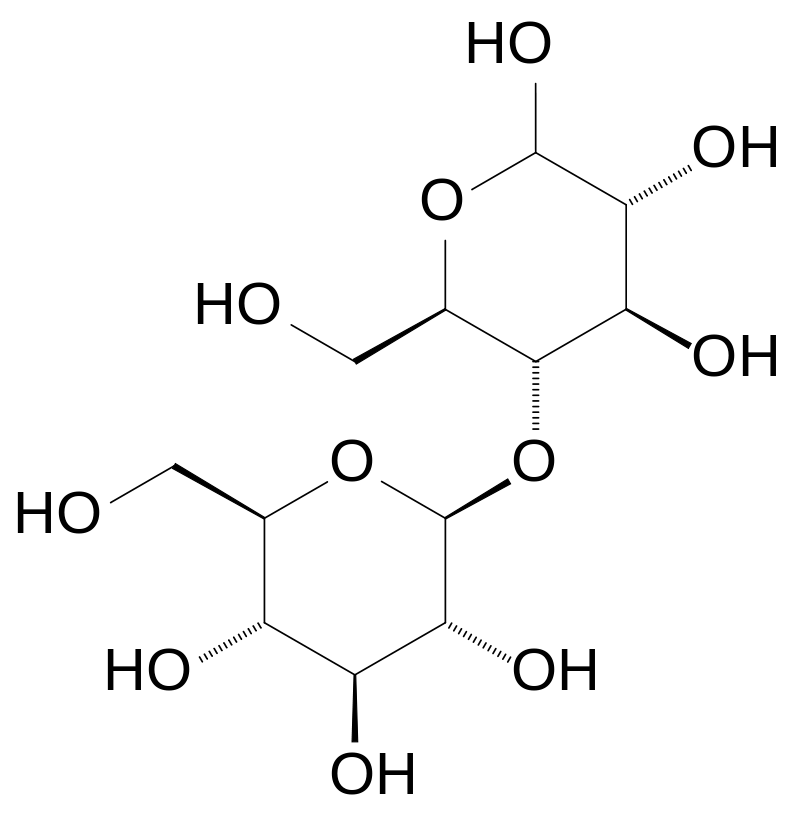Химическая структура Целлобиозы