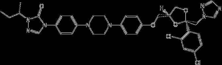 Химическая структура Итраконазола