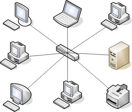 Топология Звезда компьютерной сети