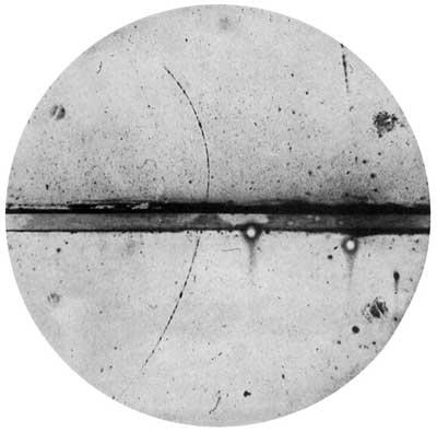 Фотография позитрона